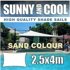 HEAVY DUTY SHADE SAIL-2.5x4M RECTANGLE IN SAND 2.5Mx4M,BEIGE