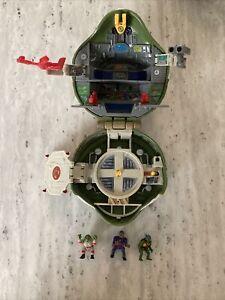 1994 Ninja TMNT MINI TURTLE-TOP Military Leonardo's Mutant PLAYSET Figures