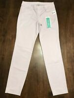 OLD NAVY PIXIE CHINO **SIZE 0 REG** LILAC COTTON CHINO ANKLE PANTS **NEW**