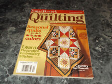 Fons & Porters Love of Quilting September/October 2009 Magazine Tossed Tulips