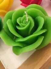 Custom Handmade Scented Ornamental Rose Shaped Candle (Many Colours Available)