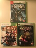 BioShock Xbox 360 Lot: 1, 2, and Infinite GAMES COMPLETE