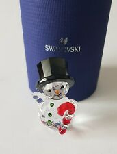 Swarovski Crystal, Snowman With Candy Cane. Art 5464886. New 2019
