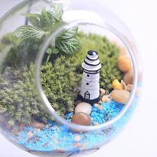 Resin Craft Miniature Garden Lawn Ornament Lighthouse Watchtower Model DIY Décor