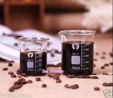 50/100/200ml Graduated Borosilicate Glass Beaker Coffee Measuring Cup Espresso