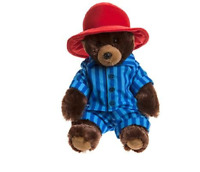 "PADDINGTON BEAR SOFT TOY (IN PYJAMAS) 11"" SITTING (28CM) BRAND NEW - UK SELLER"