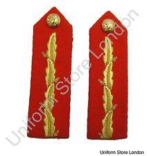 Gorget Collar Patch Red Gold Leaf Officers Plain Back General's No. 1 Dress R855