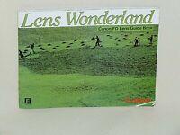 CANON LENS WONDERLAND FD LENSES GUIDE BOOK