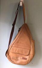 LL Bean Traveler Blonde Leather Sling Ergo Backpack 0PX83