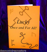 LUCKY ONCE AND FOR ALL Finbarr Occult Grimoire. White Magic. Magick. Spellbook