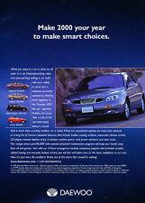 2000 Daewoo Leganza CDX - sedan -  Classic Vintage Advertisement Ad D08