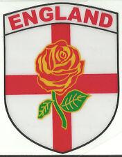 England Lancashire Red Rose Flag Shield Shape Internal Car Window Sticker Decal