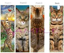 3 Set- BENGAL CAT BOOKMARK Asian Leopard Tabby ART Figurine Book Card Ornament