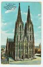 Alte Ansichtskarte Postkarte Köln Dom Westseite farbig 1914