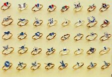 100 TURQUOISE PINKY RINGS assorted costume kids jewelry
