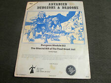G2 module ad&d Glacial Rift of the Frost Giant Jarl '78 dungeons dragons gygax!!