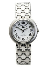 OSIROCK POLO:MENS' OR WOMENS STAINLESS STEEL BAND ROUND CASE W/DATE ANALOG WATCH