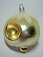 Vintage W German Glass Christmas Ornament Triple Indent Mushroom Shaped Bell