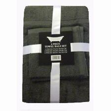 Juego de toallas de baño y albornoces color principal gris 100% algodón