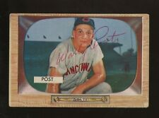 Wally Post Signed 1955 Bowman #32 Cincinnati Redlegs Auto