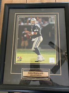 Dallas Cowboys photo of Tony Romo!! Now cbs commentated!! Photo and frame