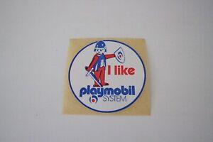 "playmobil sticker new/neu "" i like "" vintage, aufkleber, pegatina, voiture"