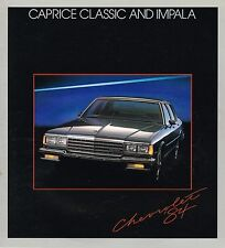 1984 Chevy CAPRICE / IMPALA Brochure / Catalog w/ Color Chart: CLASSIC,Wagon,5.0