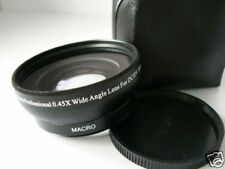BK 58mm 0.45X Wide-Angle Lens For Fujifilm Fuji FinePix HS10 S9600 Camera