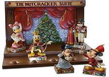 Jim Shore Nutcracker Suite complete set 5 + Displayer Stand Disney Traditions