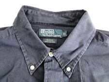 Polo Ralph Lauren Blake Herren Hemd Kurzarm  Blau Unifarben Gr. XL