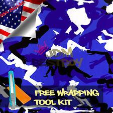 "*24""x60"" Morning Wood Blue Wood CAMO Camouflage Vinyl Wrap Decal Sticker Skin"