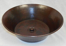 "15"" Round Copper CAZO Vessel Sink with DRAIN"