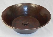 "15"" Round Copper CAZO Vessel Sink with DRAIN"