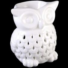 White Owl Ceramic Oil Burner Candle Tart/ Wax Melt Aromatherapy Free Postage