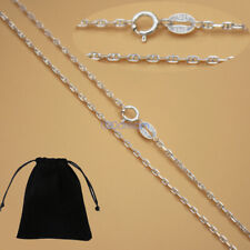 REAL Classic 925 Sterling Silver Marina Chain Necklace 16-24 Inches Stamped Gift