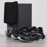 DIOR HOMME 960$ New 'B24' Oblique Sneakers In Black Technical Knit & Leather