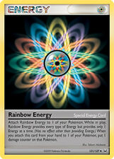 Rainbow Energy Uncommon Pokemon Card Pt1 Platinum 121/127