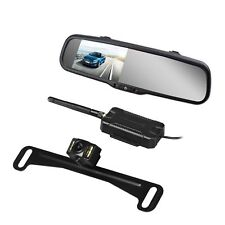 Wireless Car Rear View Mirror Monitor + Night Vision Parking Backup Camera Kit