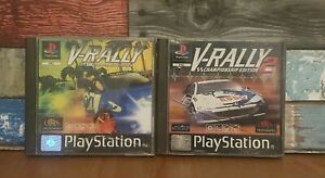 V-Rally 1 & 2 Championship Edition PS1 PlayStation 1 Game Bundle Racers