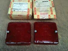 Bosch 1315620956 flush fitting red plastic light lens x two , 100mm square