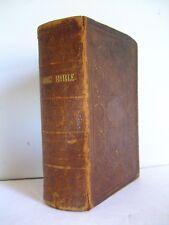 1865 Leather Holy Bible.  American Bible Society. Leekins Family Bible