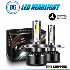 H4 9003 HB2 LED Headlight Bulbs Kit Hi/Lo Beam 60W 12000LM 6000K White Light HID