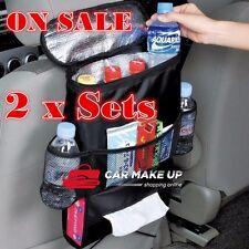 2 Car Seat Back Storage Bag Travel Organizer Multi Pocket Tissue Holder Foldable