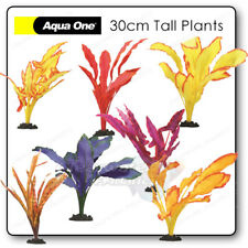 LARGE Artificial AQUARIUM SILK PLANTS That Look Real Fish Tank DECOR Plastic