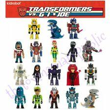 Full Set 18 Kidrobot Transformers vs GI Joe Mini Series Figure W/ Blue Grimlock