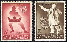 "EBS Croatia Hrvatska NDH 1942 ""Victims of Senj"" Ustasha Youth Michel 91-92 MNH**"