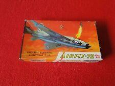 Vintage Rare Plastic Model Airplane Airfix-72 English Electric Lightning F 1A
