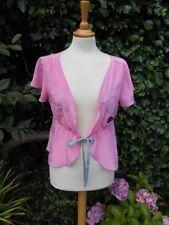 Matthew Williamson 100% Pure Silk Pink jacket sequins12 BNWT Nice 4 Mothers day