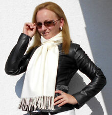 Luxe Oh` Dor 100% Cashmere Scarf Luxury Classic Laura White 70 7/8x9 13/16in