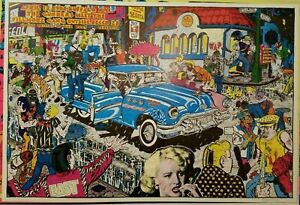 ORIGINS OF THE BEAT GENERATION 1972 VINTAGE BLACKLIGHT POSTER By SPAIN -NICE!